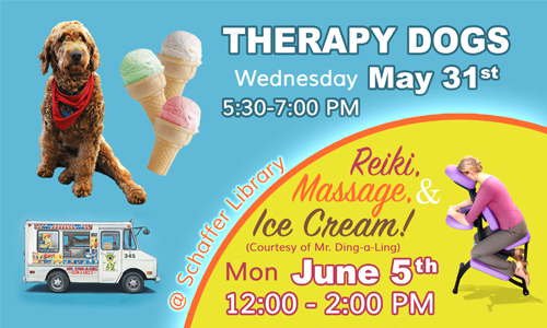 Therapy Dogs and Ice Cream