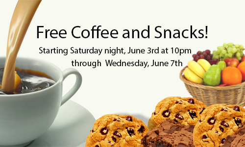 Free Snacks and Coffee
