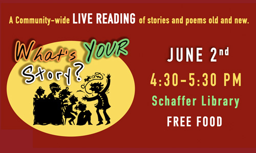 What's Your Story? Live Reading & FREE FOOD