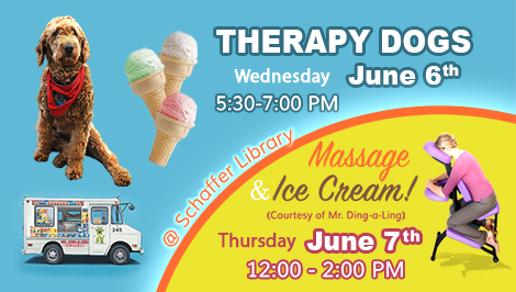 Therapy Dogs, Massages and Ice Cream
