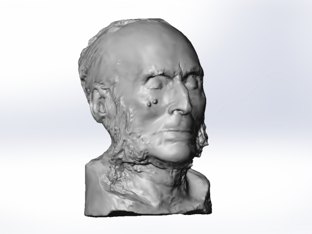 3D Scanning John Bigelow's Death Mask
