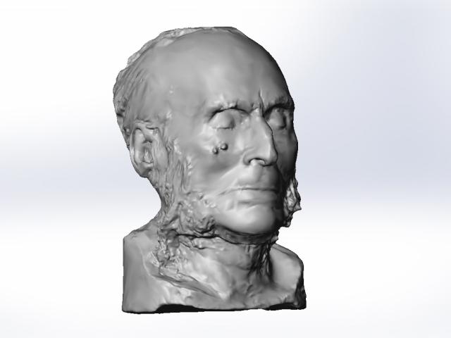 3D Scanning John Bigelow's Death Mask
