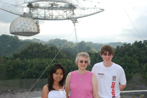 Union astronomers at Arecibo