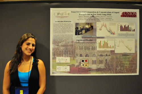 Maria Battaglie presents her poster