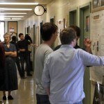 Students and faculty at the Summer Research Poster Session.