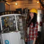 Rachel Almodovar '15 on tour of the Arecibo Telescope