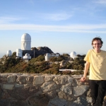 Michael Warrener '16 at Kitt Peak National Observatory in Arizona