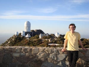 Michael Warrener '16 at Kitt Peak National Observatory in Arizona