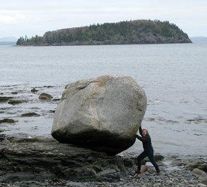 Porcupine Island and erratic
