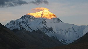 photo of Everest sunset