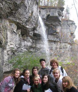 Photo of Indian Ladder Trail, Thacher Park field trip, ESC 190, Fall 2012