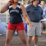 Taking the lead at shotput, discus