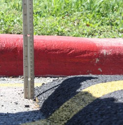 Speed bumps on campus reach up to 3.5 inches, some going higher.