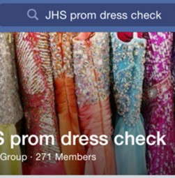 Two senior girls created a secret Facebook page to check and see if anyone else has purchased the same one.
