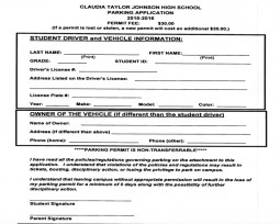 Junior and seniors can apply for parking permits in August, right before school starts.
