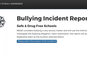 NEISD bullying site screenshot