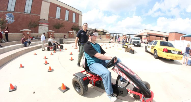 Safe Driving event on campus