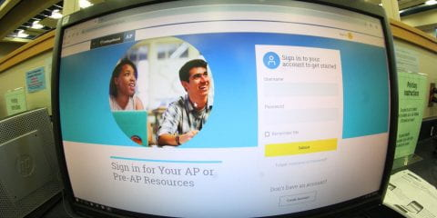 photo of an AP registration screen on a desktop