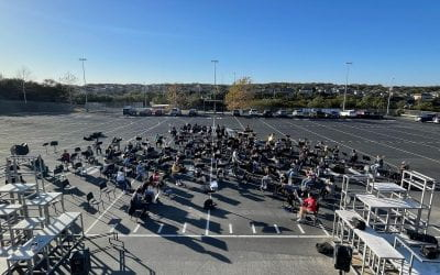 band students on the band pad