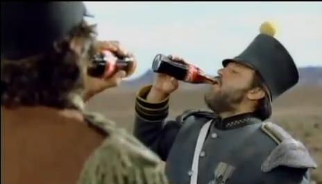 Coca-Cola: Border showed two rivals enjoying ice-cold cokes together.