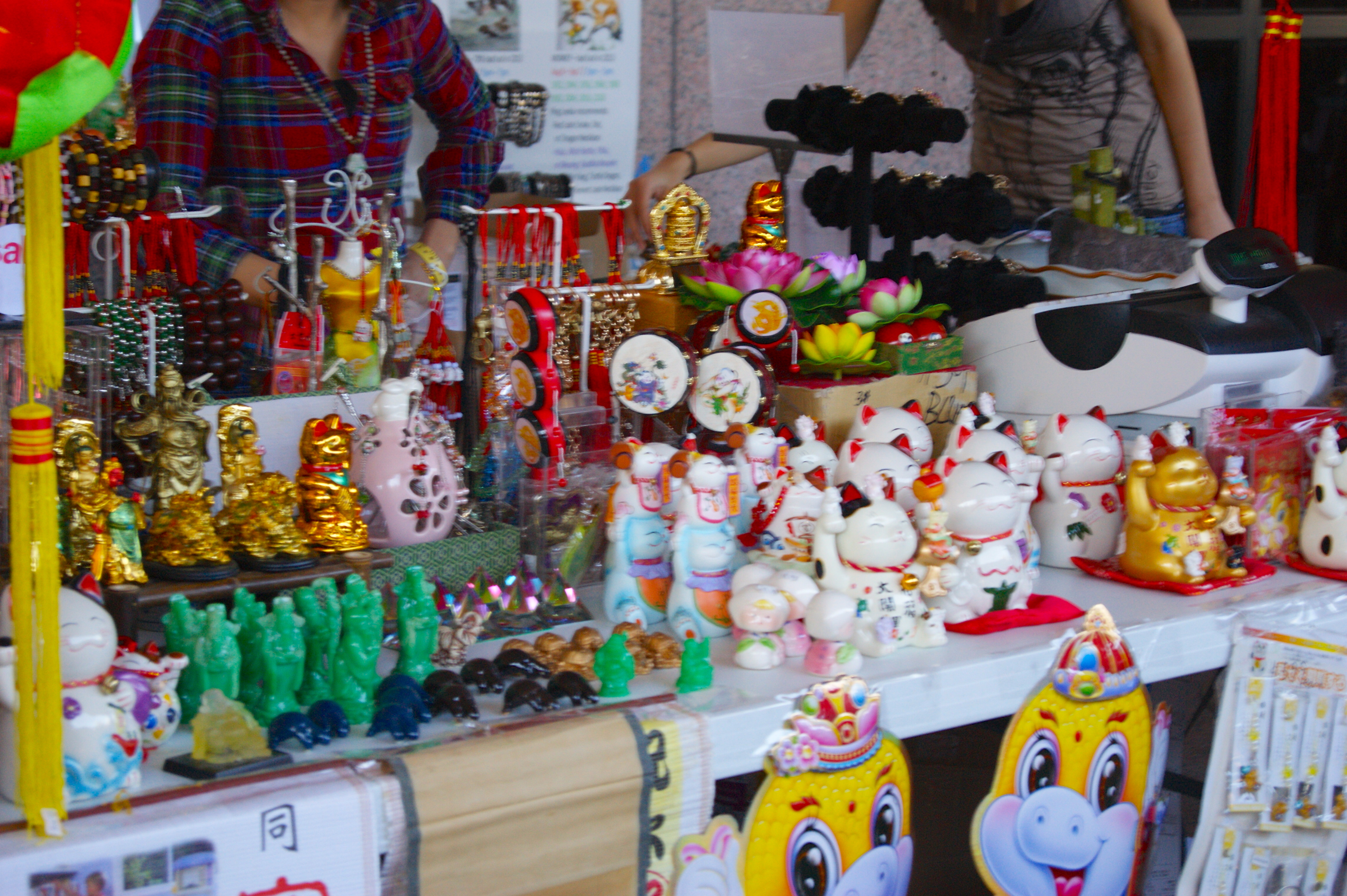 Crafts for sale at the festival