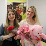 Lena Roha (12) and Brooklyn Carleston (12) showed off their Valentines Day gifts.