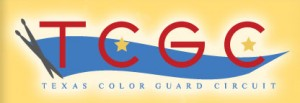 The Texas Color Guard Competition logo. Photo by www.texascolorguardcircuit.org