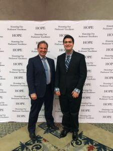 Ryan and I pose for a photo after the HOPE Banquet.