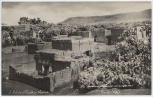 Adobe village in Mexico