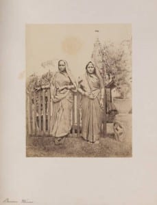 Banian Women stand in front of fence ( William Johnson ca. 1855-1862) http://digitalcollections.smu.edu/cdm/ref/collection/eaa/id/715