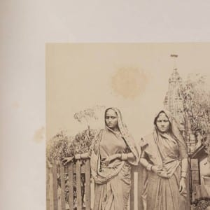 Banian Women in front of a Temple