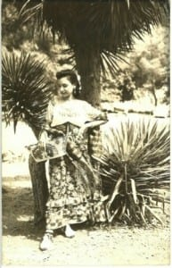 Mexican woman poses for postcard photograph (n.d.) No URL available