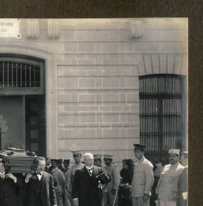 Carrying Madero's coffin from the prison, Mexico City