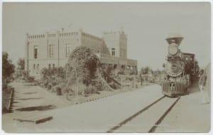 Train at station in San Luis Potosi