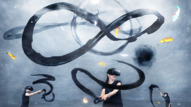 Spatial Calligraphy: Circle, Infinity Circle, teamLab, 2016, Sculpture in VR (Virtual Reality), Sound: Hideaki Takahashi