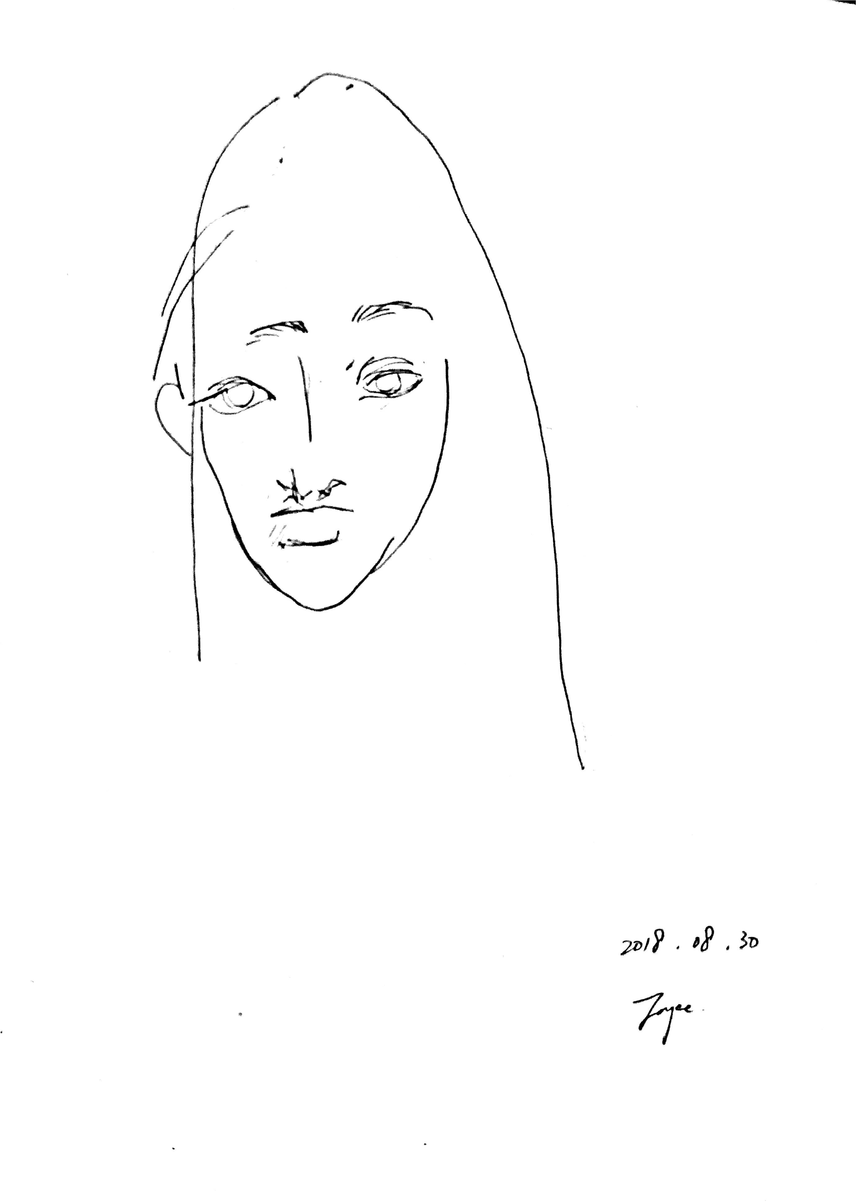 Self as Blind Contour Drawing 08.30.2018
