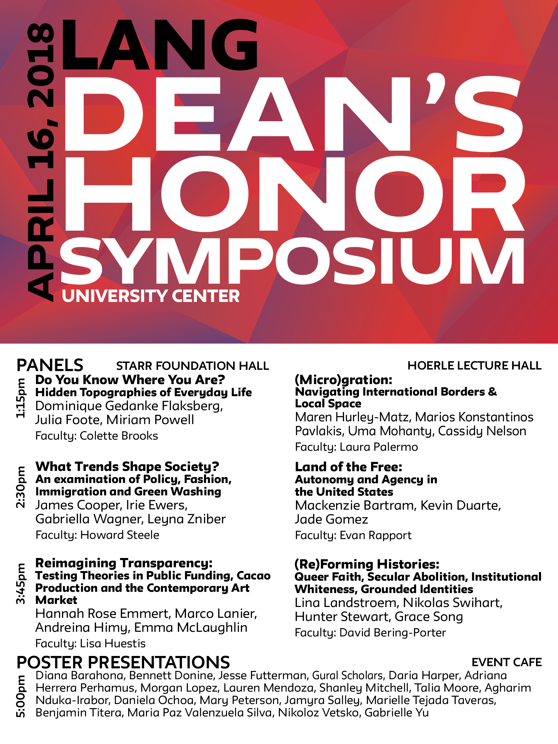 Dean's Honor Symposium