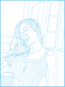 karahan-selin-self-portrait-line-drawing