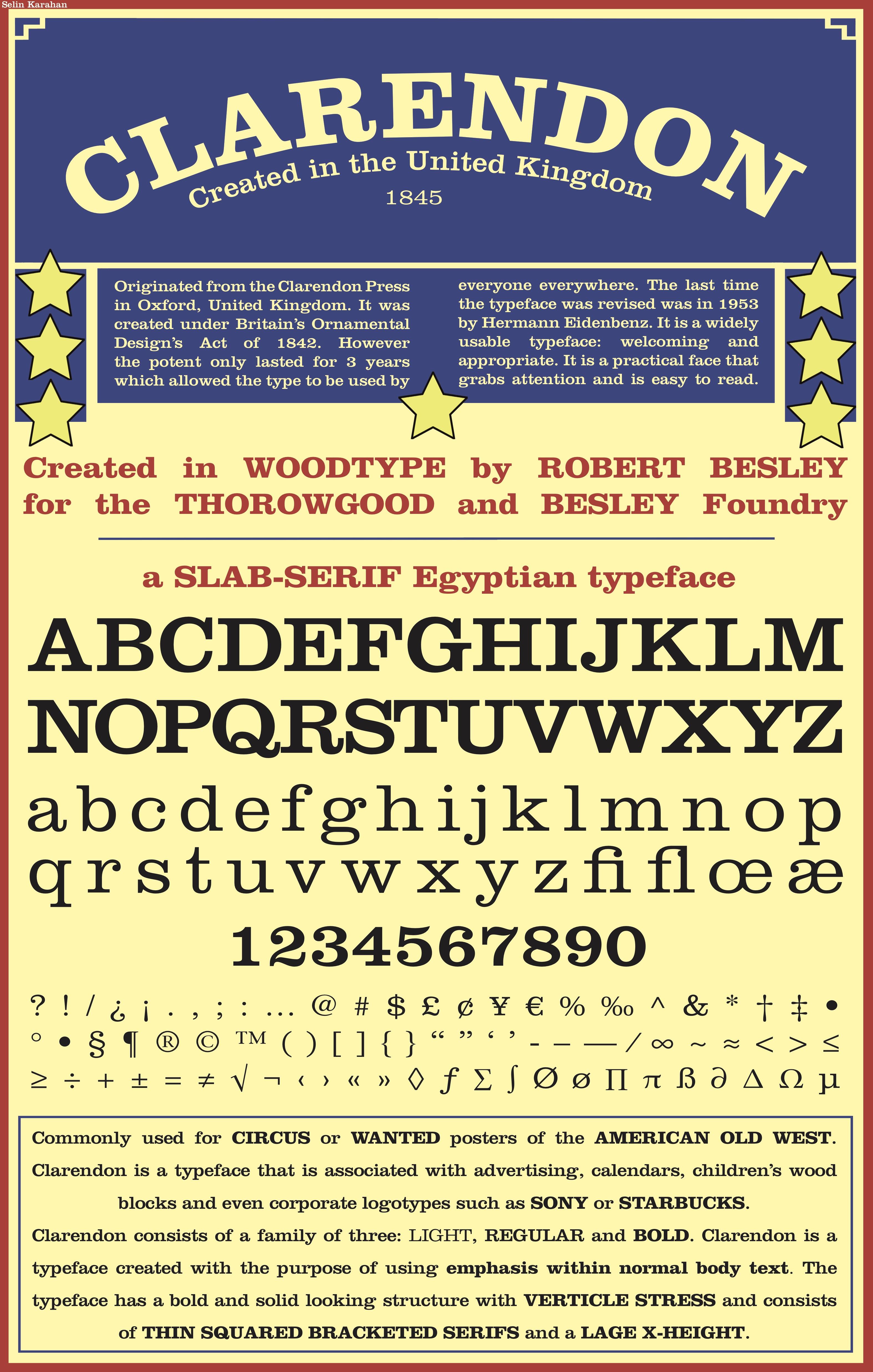 Typography: Type Specimen Poster