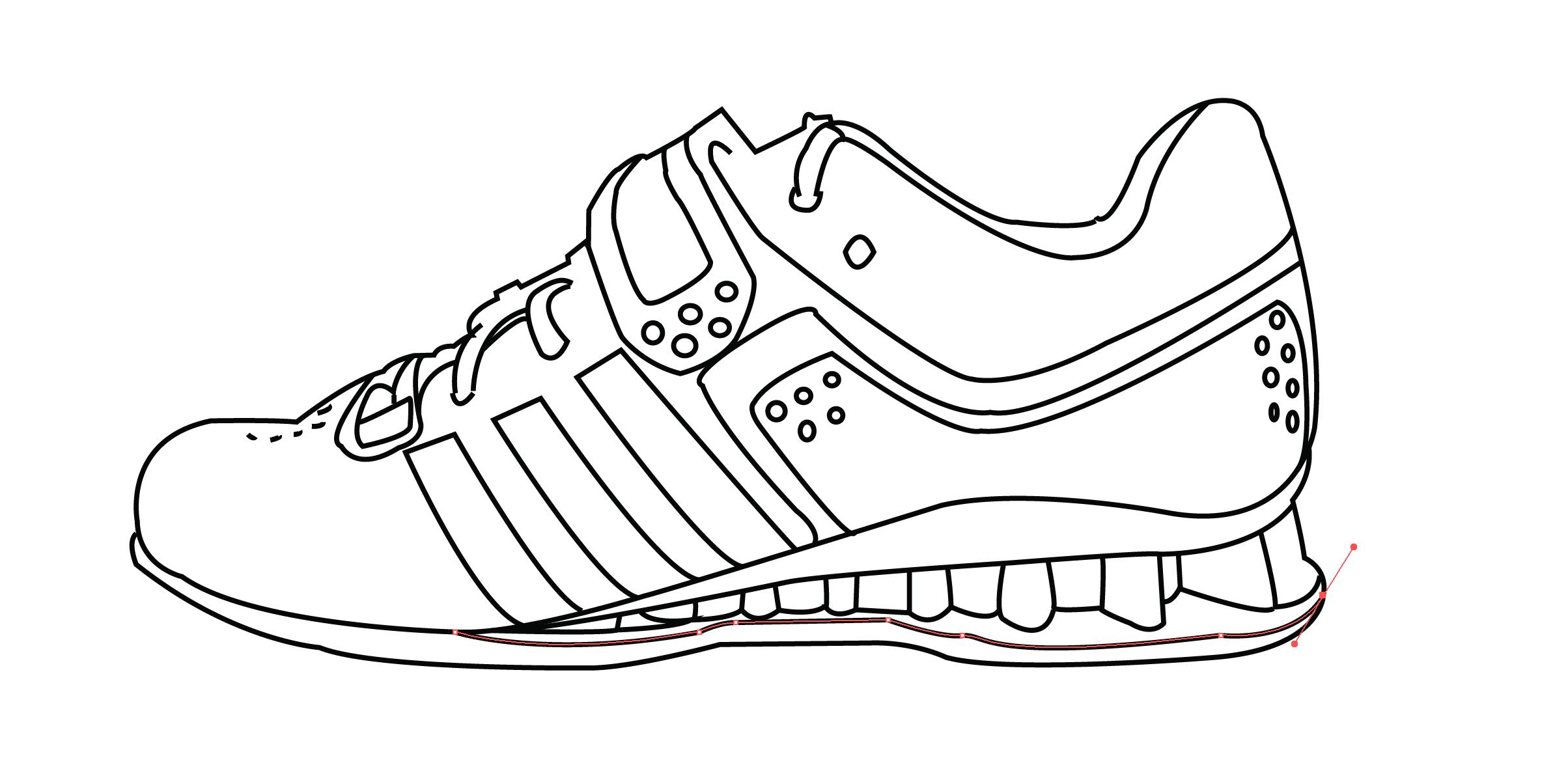 Adidas Running Shoe Outline