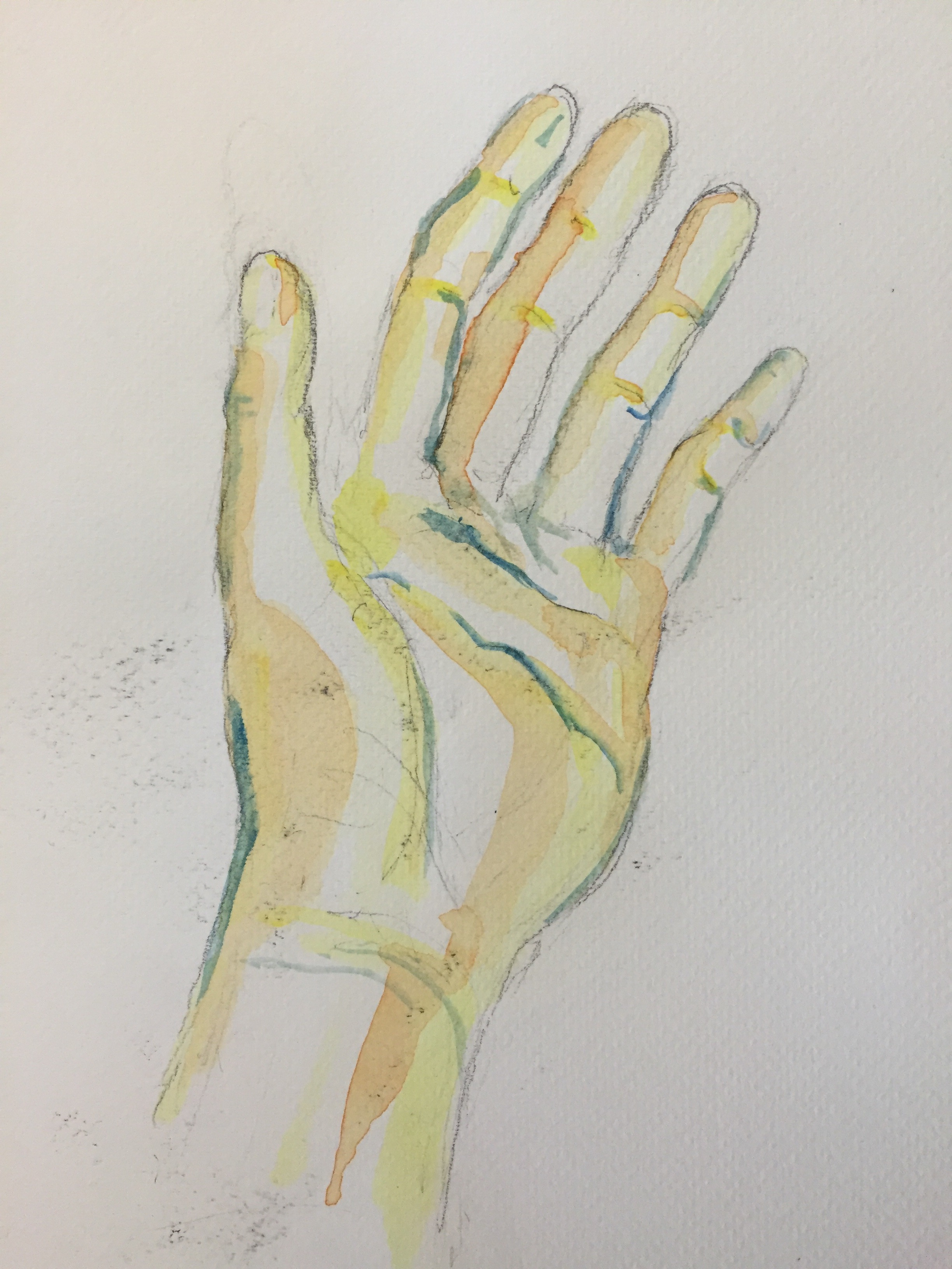 Image gallery watercolor hands for Watercolor paintings of hands