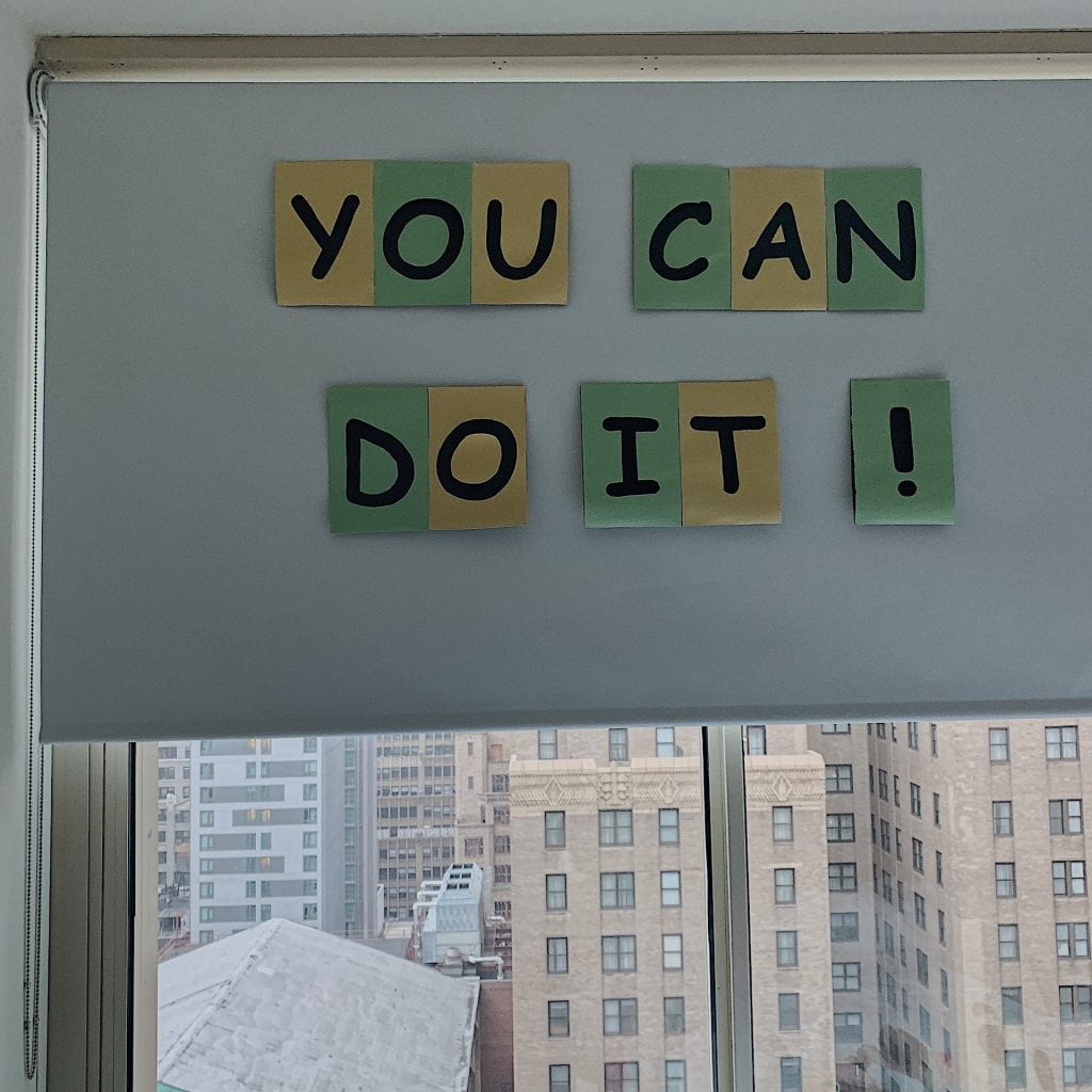 Encouraging banner: You can do it!