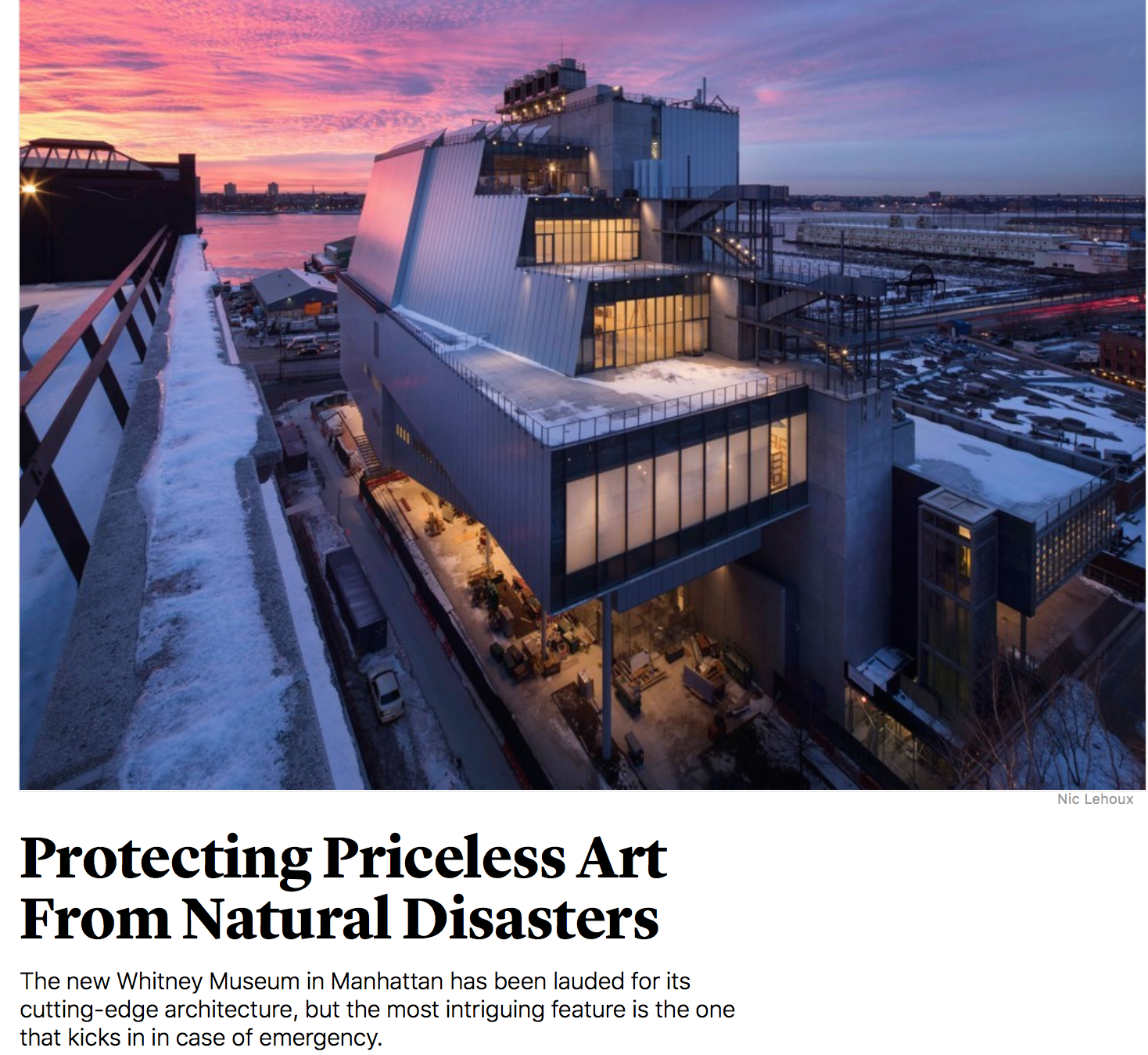 The Art of Flood Mitigation: The Whitney Museum