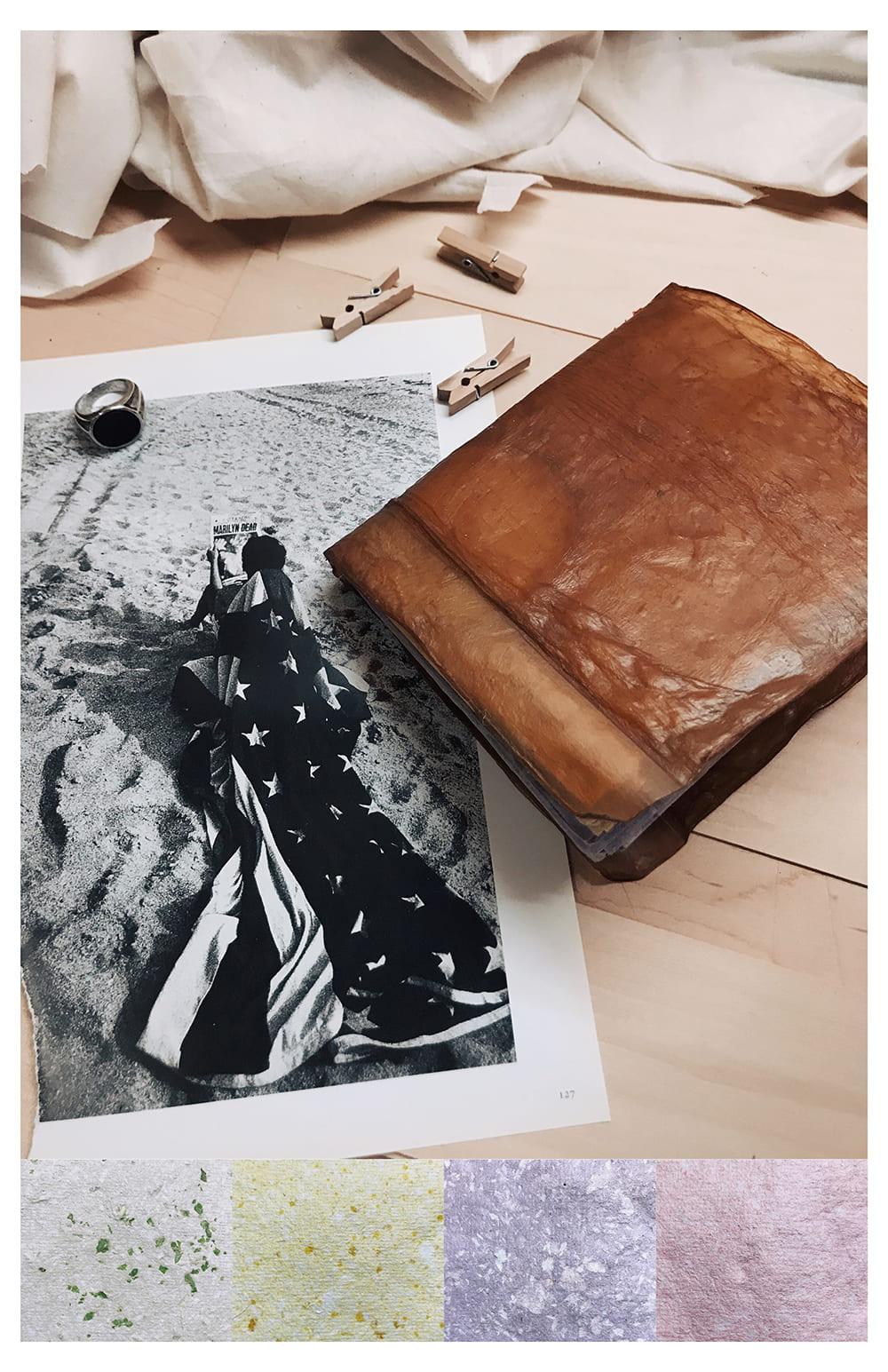 Healthier Materials: Kombucha Leather + Natural Dye