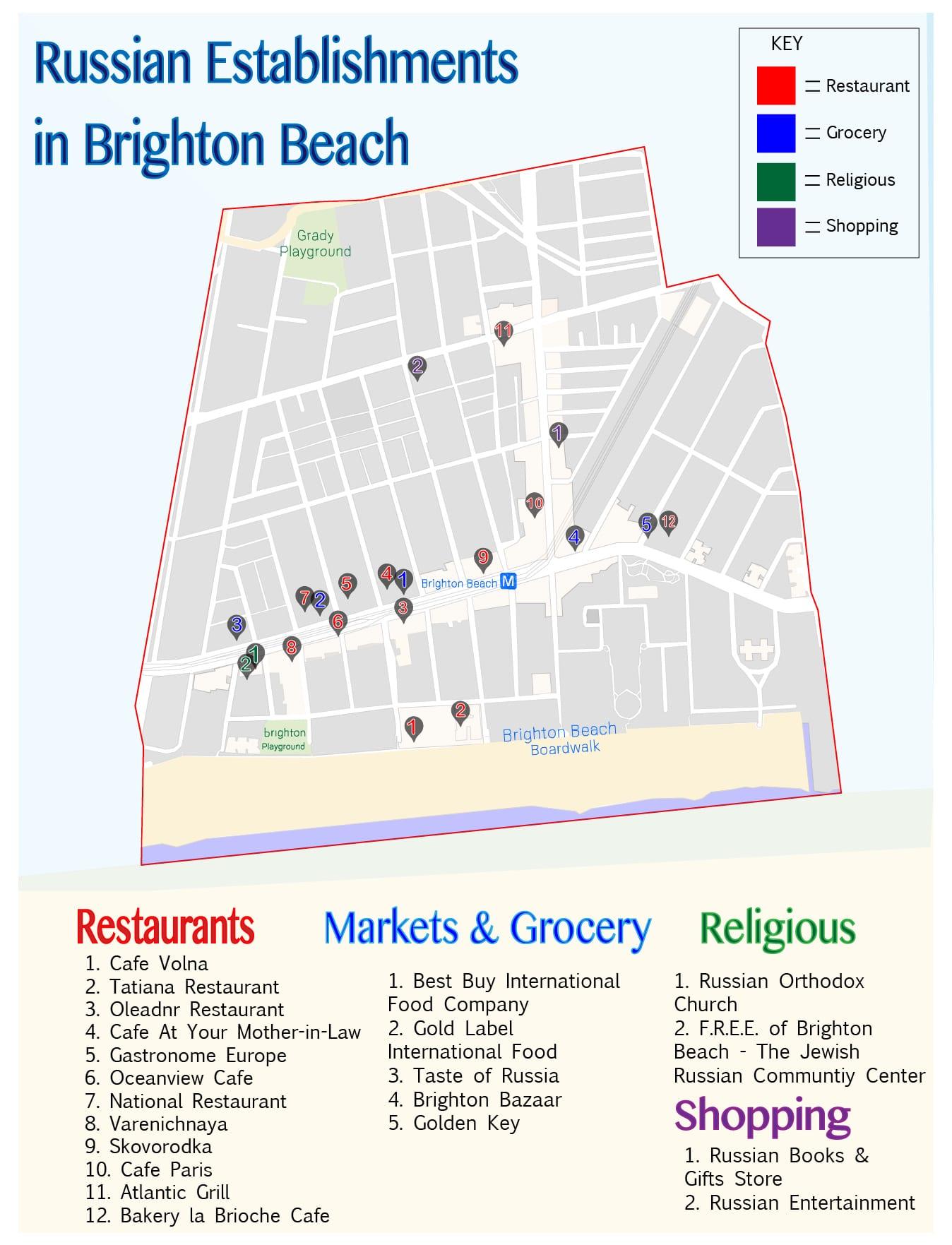 Neighborhood Map Brighton Beach