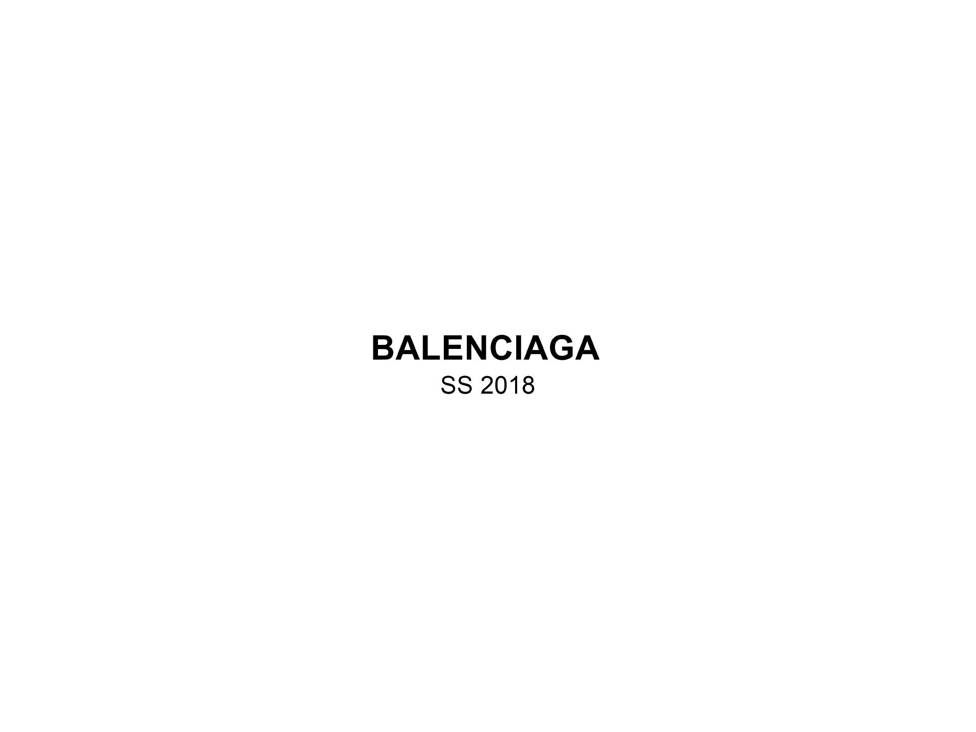 Trend Forecasting: Balenciaga SS18