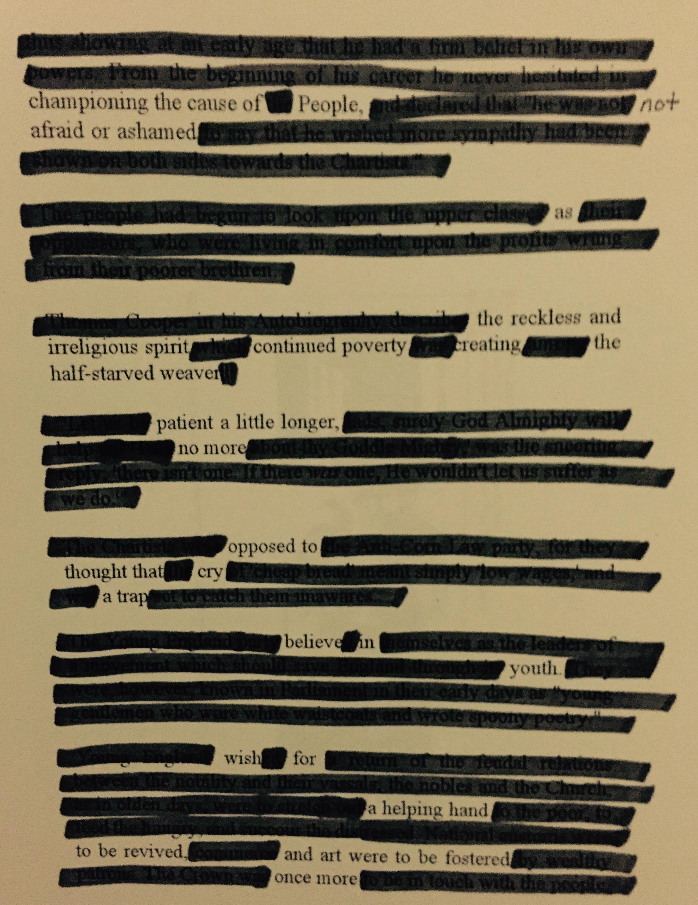 Peer-Portrait: Found Poetry