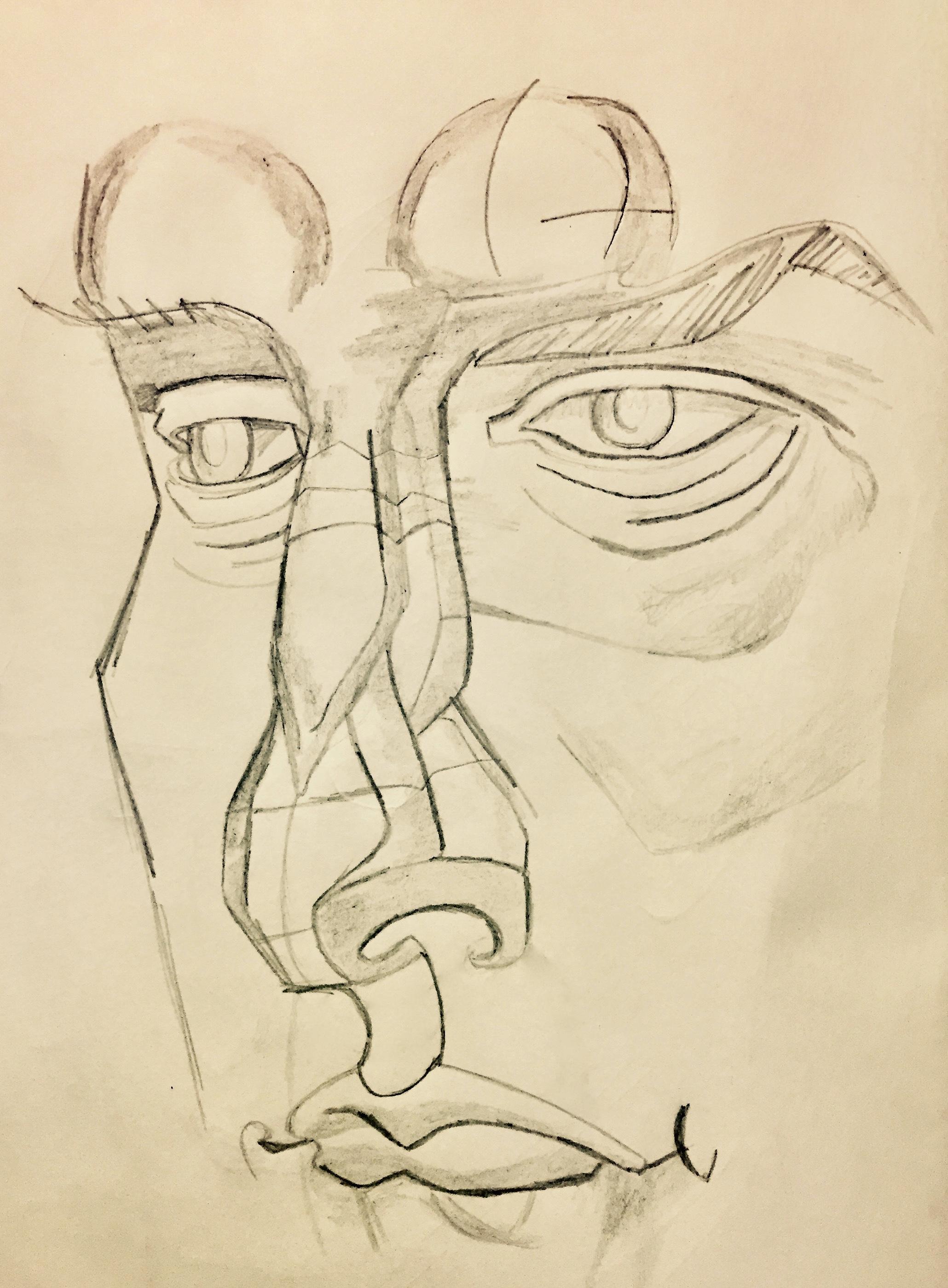 Drawing and Imaging: Sketchbook Anatomy Studies/Heads
