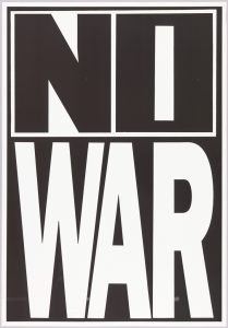 NO WAR, designed by M. VAN S. PHOTOGRAPHY, 1980
