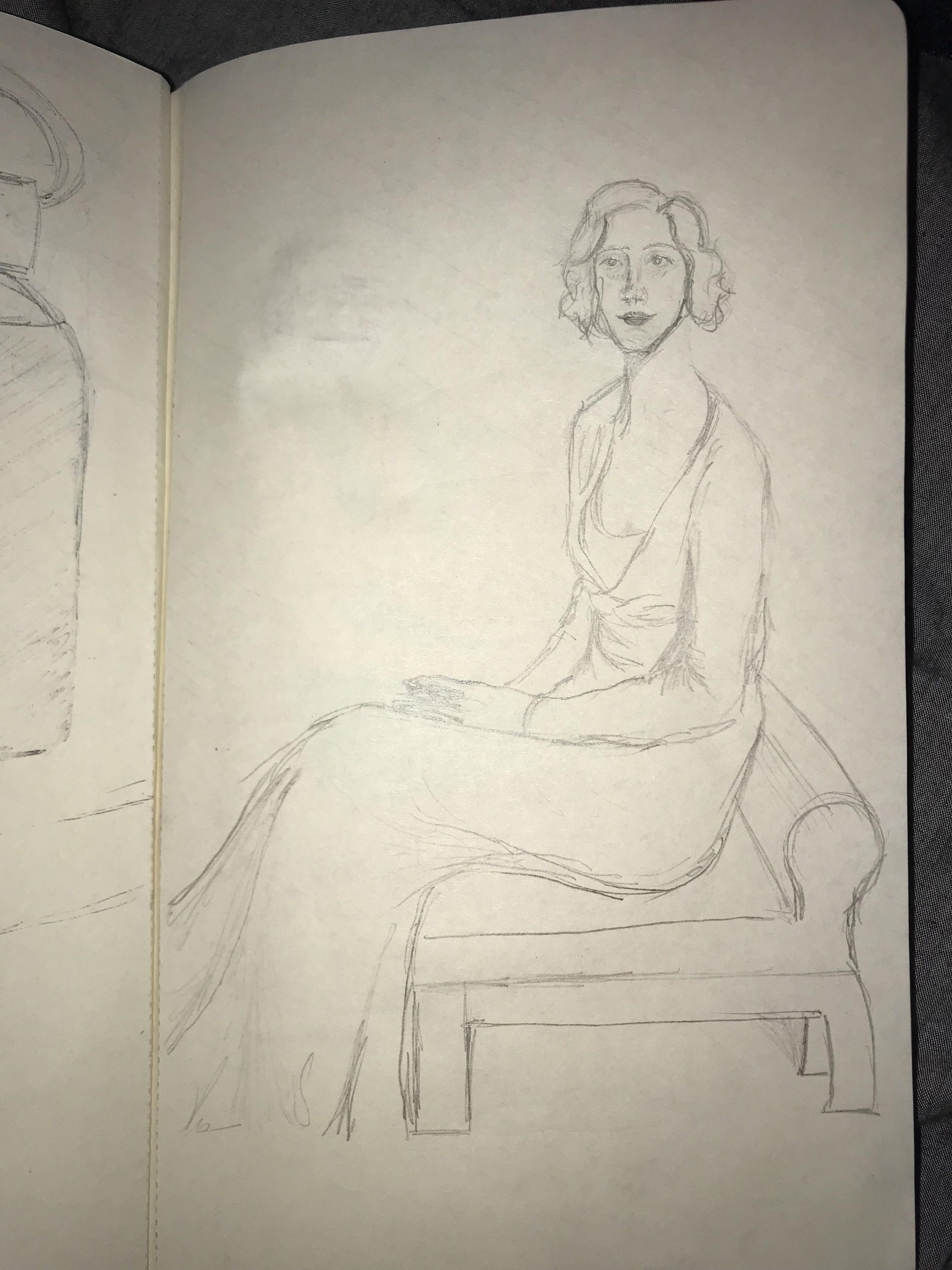 Study of Portrait of Sophie Gimbel by Leopold Seyffert – Studio